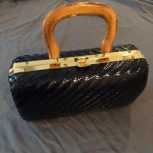 Vintage | Bobbie Jerome Navy Wicker Handbag